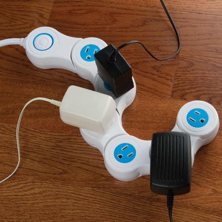 Accommodating Power Strip // Maybe all of our gadgets will fit now!