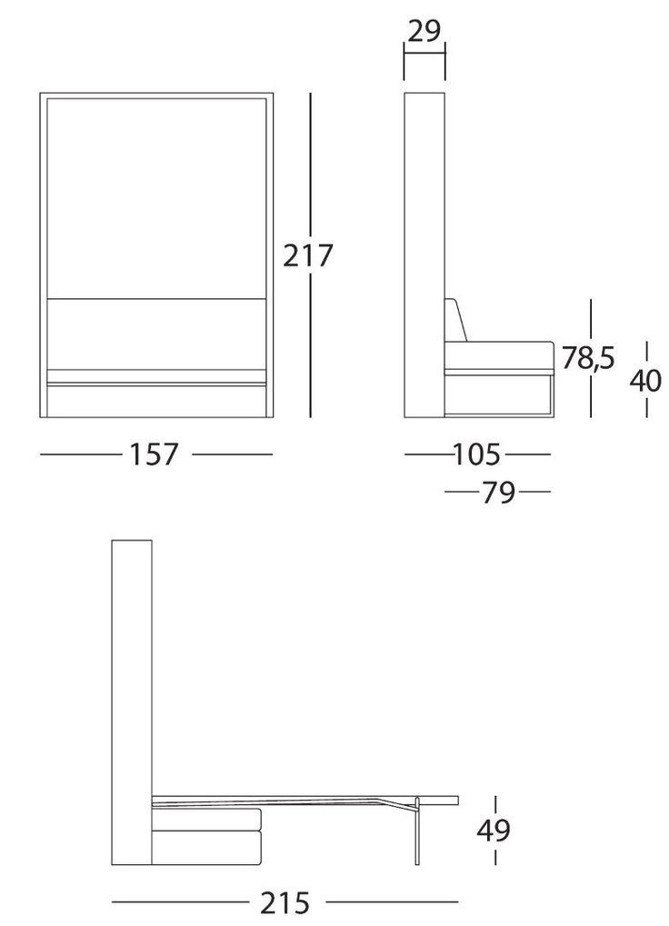 Armoire lit canapé, armoires lits escamotables, Armoire lit verticale MAGIC canapé intégré microfibre noire couchage 140 * 19 * 200 cm