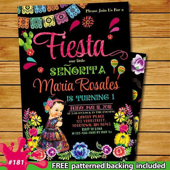 fiesta first birthday invitation fiesta
