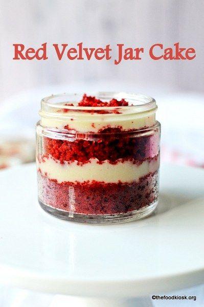 Red Velvet Cake in a Jar