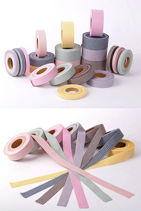 Little Checkerboard Canvas Fabric Ribbon 3Yards. 1cm by HOLYCO