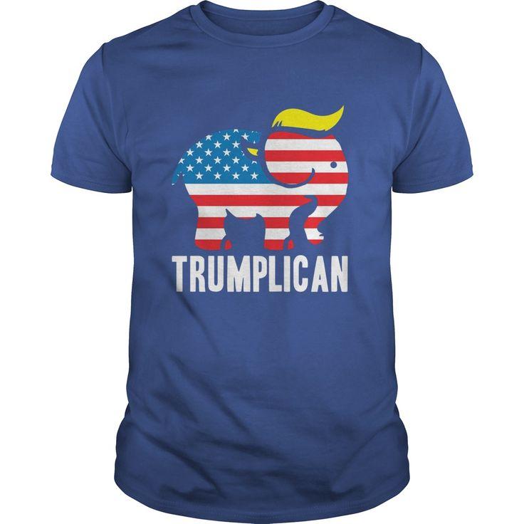 Trumplican Donald Trump Republican Symbol Politics TShirt. Political Quotes, Sayings, T-Shirts, Hoodies, Tees, Tank Tops, Gifts, Pro Trump, Republican, Conservative, Gun Rights