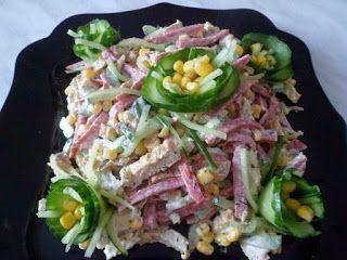 Лучшие кулинарные рецепты : Вкусный и простой салатик