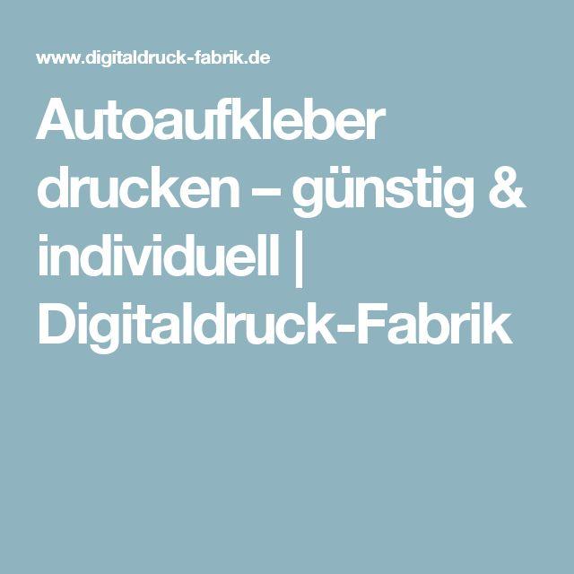 Autoaufkleber drucken – günstig & individuell | Digitaldruck-Fabrik