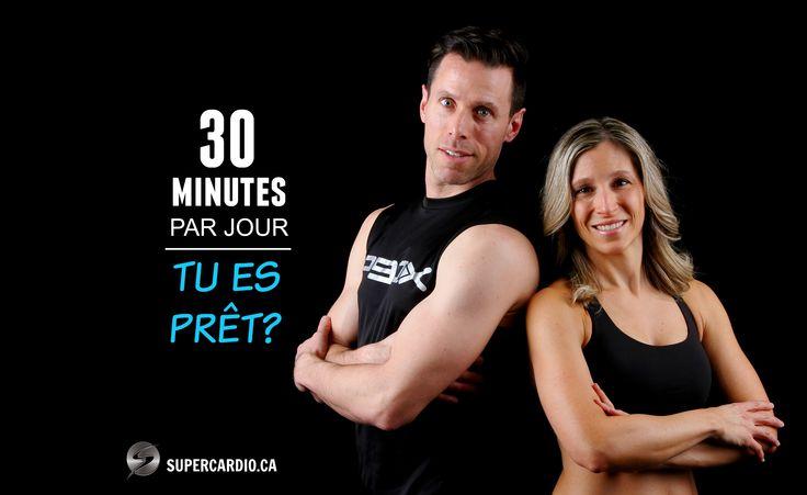 Je t'invite à notre groupe privé Facebook de mars!  - 30 minutes d'exercice par jour - Plan nutritionnel complet inclus - Support de coach Infos : supercardiocoach@gmail.com