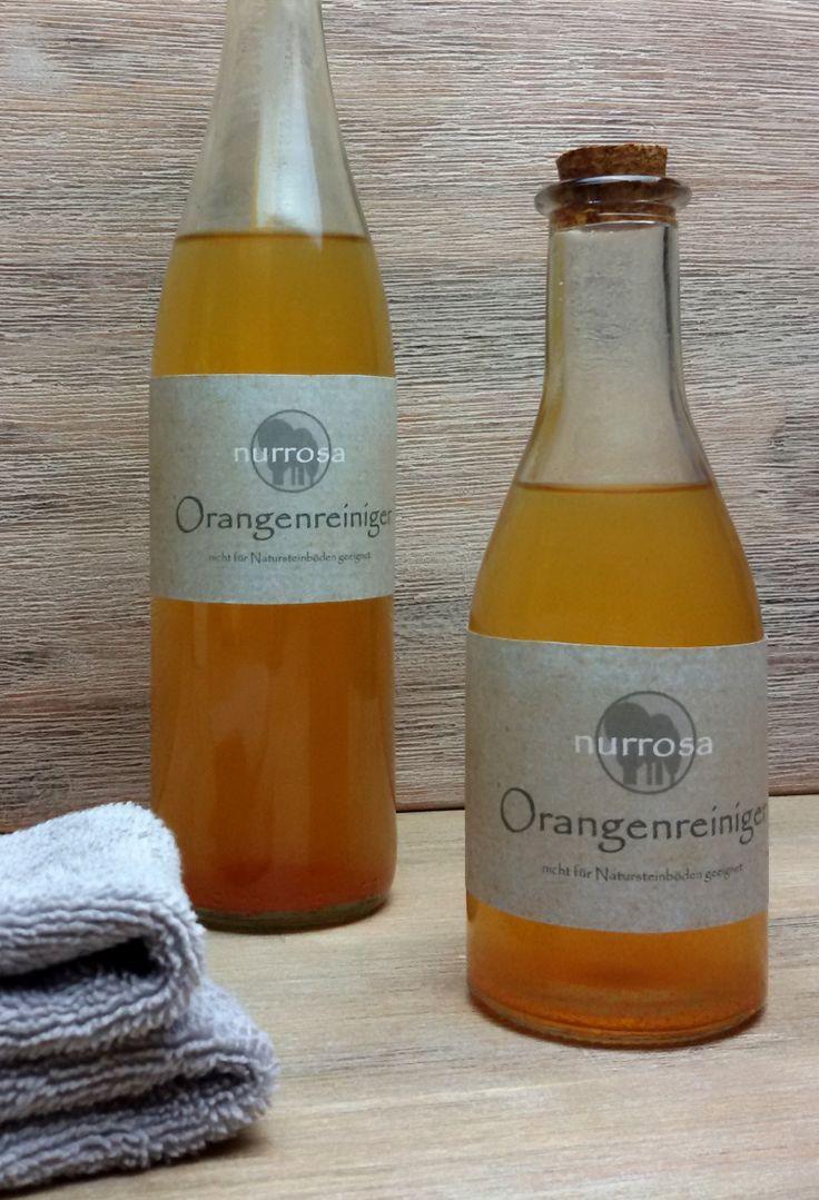 Orangenreiniger ganz einfach selber herstellen Ich weiß nicht wie viele Plastikflaschen mit Putzmitteln ich in meinem Leben schon gekauft habe. Ganz bestimmt sehr, sehr viele. Und damit habe ich ei…