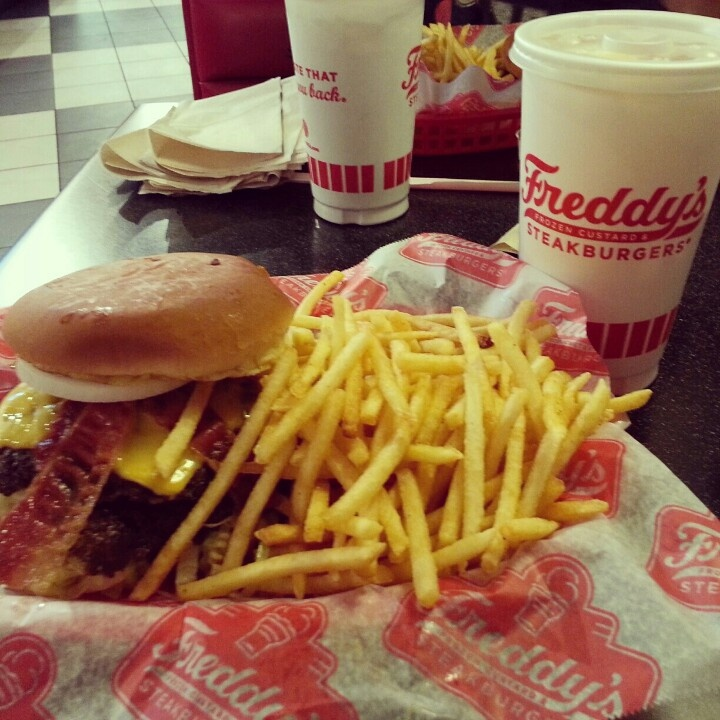 Bacon & Cheese Double Stack @ Freddy's Frozen Custard & Steakburgers