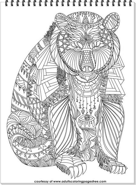 43 best Animals Coloring Pages For Adults images on Pinterest - best of free coloring pages of endangered animals