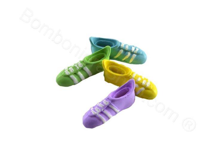 Set 24 pz. scarpette calcio colori ass. per applicazione bomboniera fai da te (JT)
