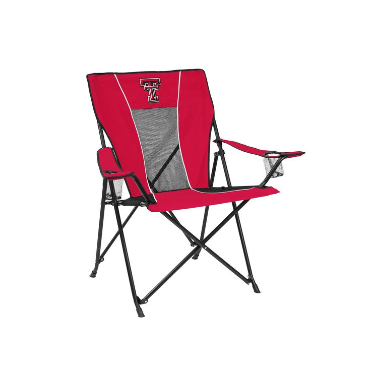 Outdoor Adult Logo Brand Texas Tech Red Raiders Game Time Portable Folding Chair, Multicolor
