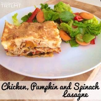 Chicken, Pumpkin and Spinach Lasagne