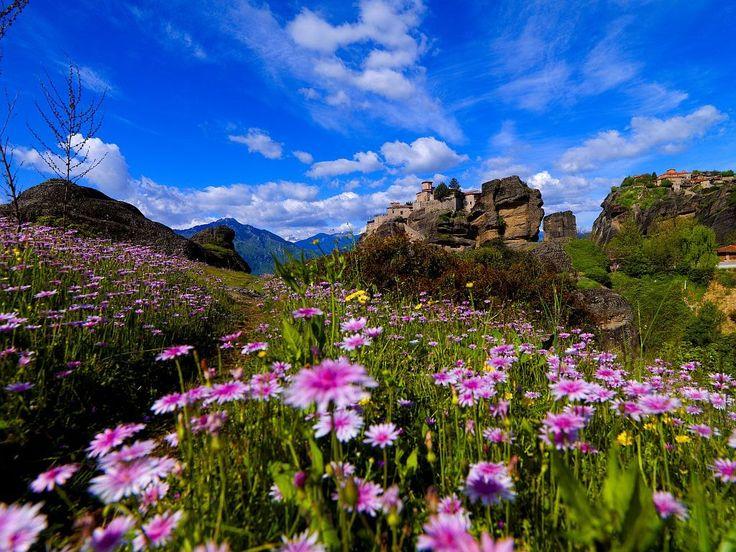VISIT GREECE  Meteora in spring, Greece