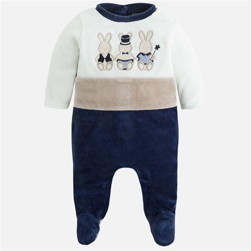 Mayoral Erkek Bebek Kışlık Kadife Patikli Tulum Koyu Mavi - Bebek House