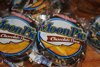 Moon Pie Banana Pudding from Deep South Dish - Banana Pudding made with chopped Moon Pies and a decadent filling of cream cheese, sweetened condensed milk and vanilla pudding.