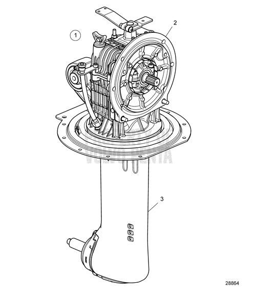 Volvo Penta Exploded view / schematic Drive 130S-C, 130SR
