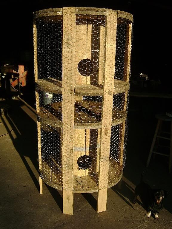 electrical spools -- up cycle hutch! Fun and cozy for a little critter! XOX