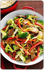 Beef, broccoli and orange stir fry
