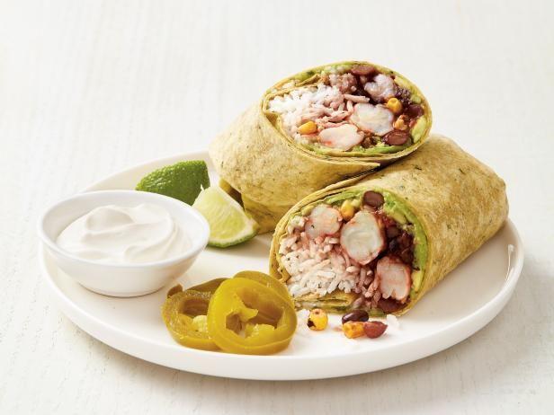Shrimp and Avocado Burritos