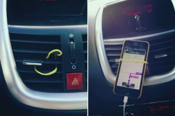 porte téléphone pour voiture facile avec élastique