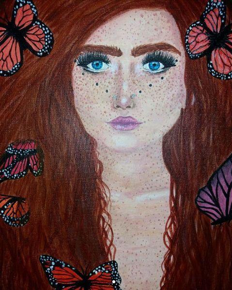 Harmony Nice acrylic on canvas painting by me: (@maggie_creates on IG) 1/2