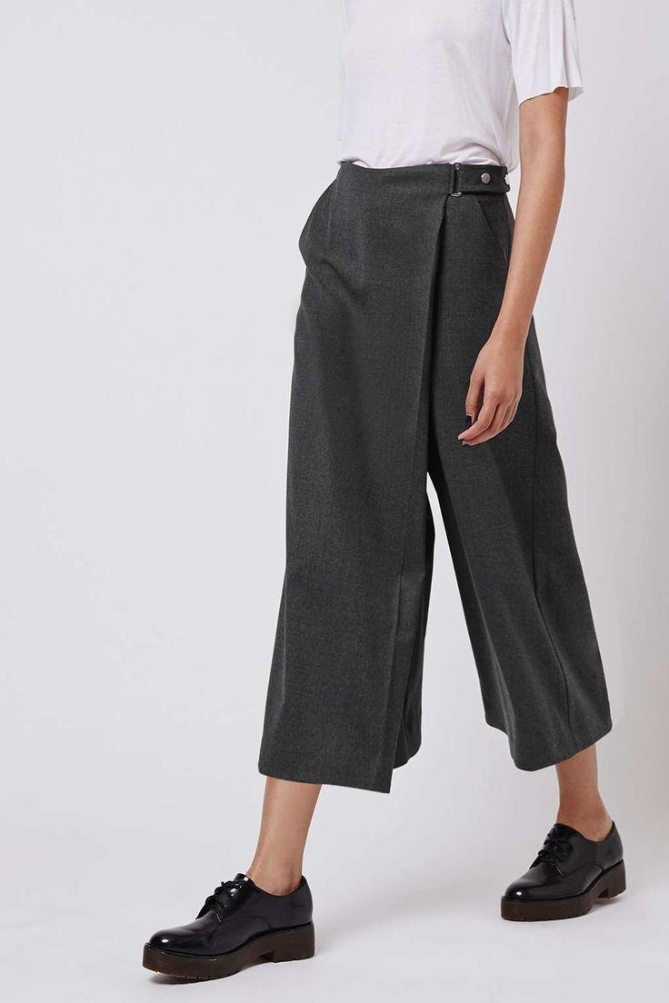 Wrap Culotte Trousers by Boutique - Topshop