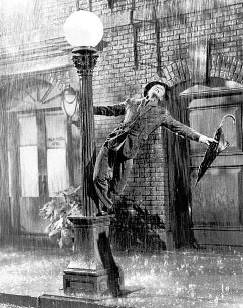 """""""Singin' in the Rain,"""" the movie musical masterpiece starring Gene Kelly, who also directed with Stanley Donen, Debbie Reynolds, Donald O'Connor and Jean Hagen"""