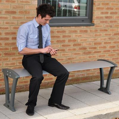 Alturo™ Bench is stylish and durable with an all-aluminium construction. #Seating #Contemporary #Bench #GlasdonUK