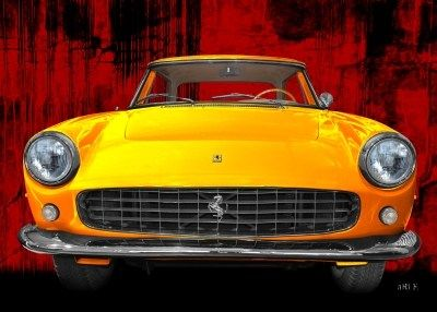 Ferrari 250 GT Art Car Poster