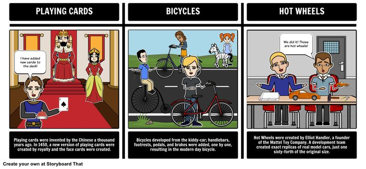 History of Toys - Compare/Contrast: In this activity students will compare and contrast three toys: playing cards, bicycles, and hot wheels. A short summary of the origin of each toy is provided for each of these toys.