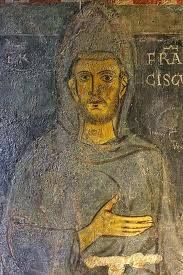 Real Painting of Saint Francis at the time he lived in Assisi