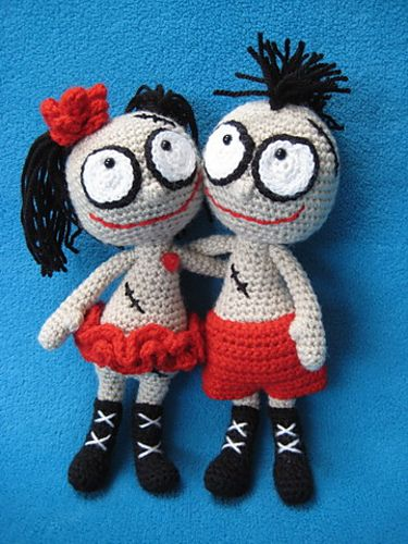 Mister and Misses Voodoo Doll Toy by Millionbells
