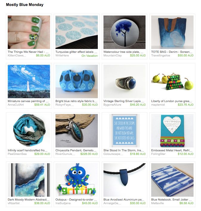 Mostly Blue by Nikki Tatter on Etsy