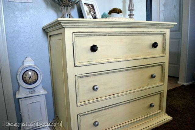 Distressed Yellow Dresser