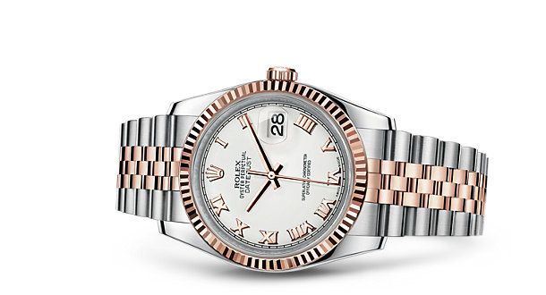 Rolex Datejust 36 Watch: White Rolesor - combination of 904L steel and 18 ct white gold - 116234