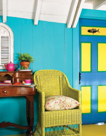 Beach House Decorating  Whether you live by the beach or just dream about ocean breezes, you can enhance the natural beauty of your home with crisp white, splashes of bold color, and sea-themed accents.