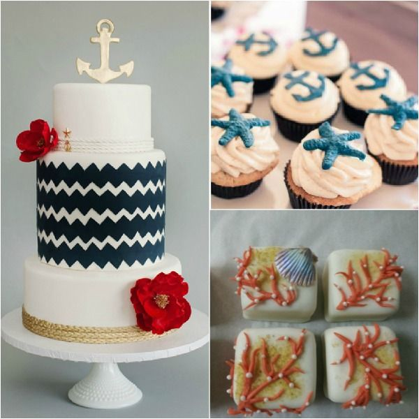 Nautical & Maritime Theme Cake & Desserts - mazelmoments.com