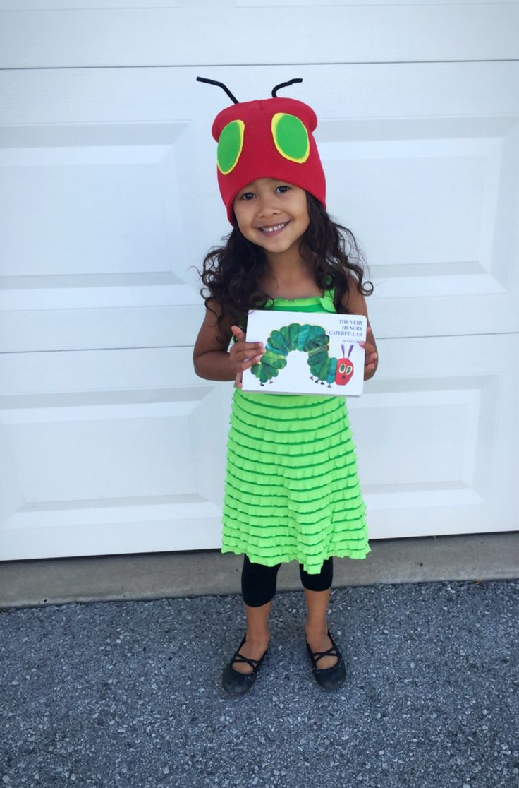 The very hungry caterpillar costume. Storybook character day.