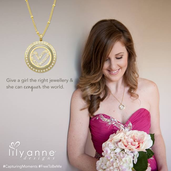 {Give a girl the right jewellery & she can conquer the world} #LilyAnneDesigns #PersonalisedLockets #CapturingMoments #FreeToBeMe