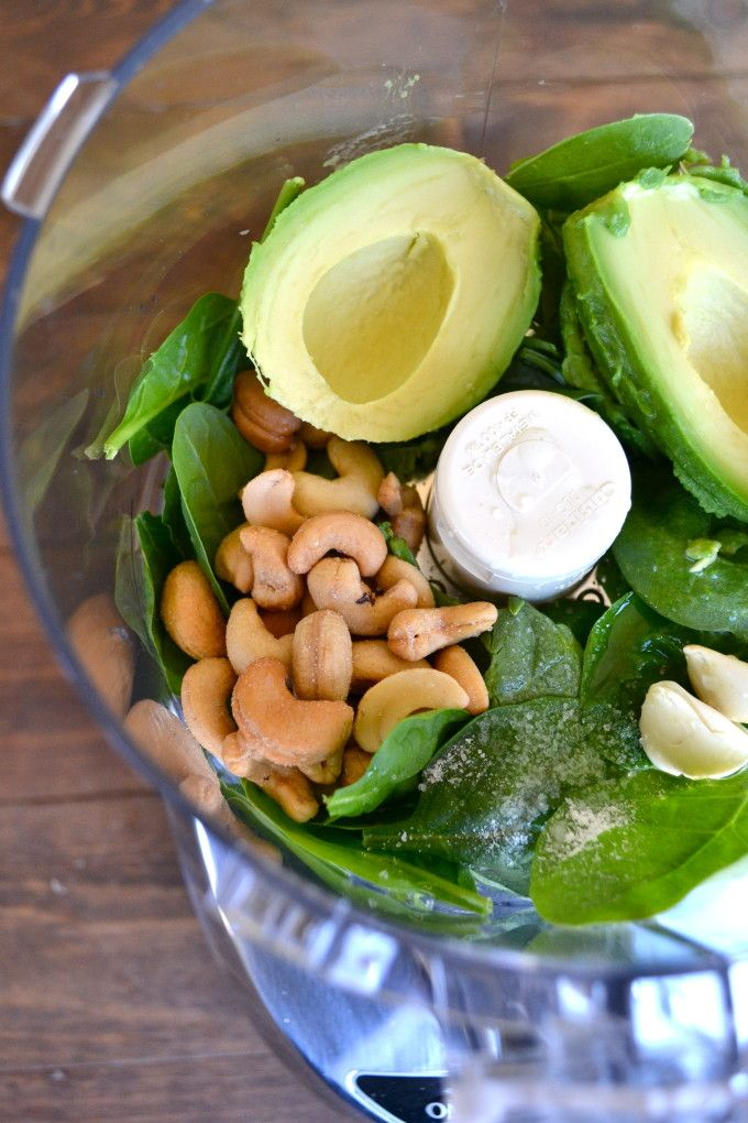 Avocado Pesto Zoodles - low carb but full of creamy flavor!