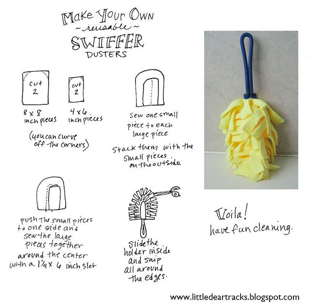 Swiffer refils are expensive. I need to start making these at home!