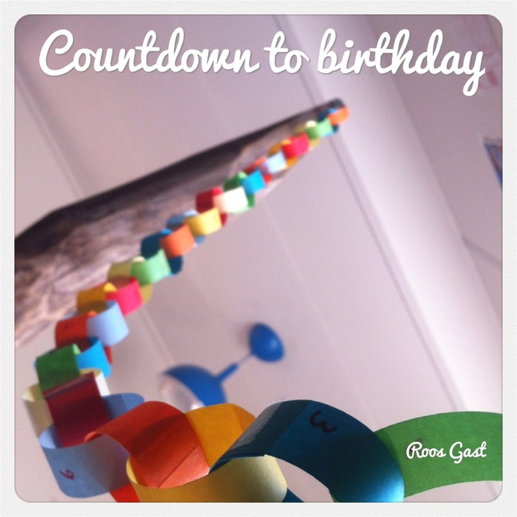 """Countdown to birthday! Makes it visual how many days are left. Loads of joy for the kids! 