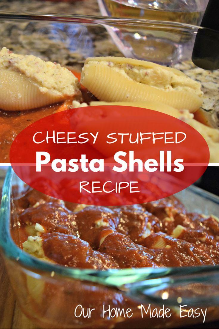 Cheesy Stuffed Pasta Shells Recipe