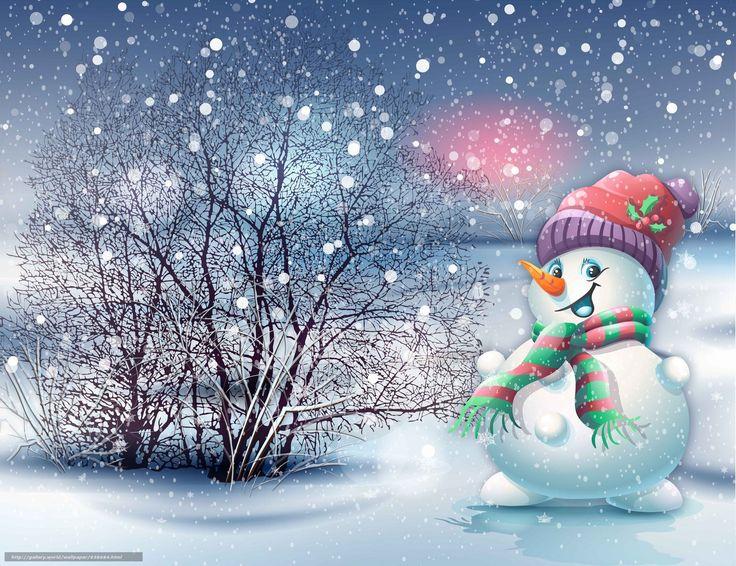 scaricare gli sfondi pupazzo di neve,  Sfondi di Natale,  nevicata Sfondi gratis per la risoluzione del desktop 6000x4616 — immagine №638684