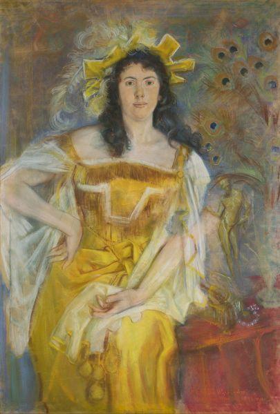 Portret Honoraty Leszczyńskiej w roli Katarzyny z Poskromienia złośnicy Williama Shakespearea - Stanisław Wyspiański