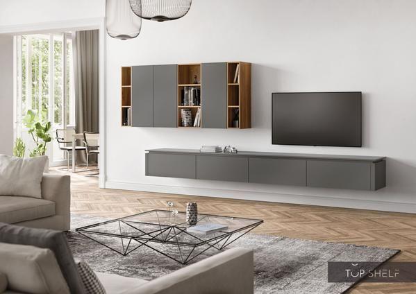 Nobilia Wohnwand Lowboards Wohnzimmer Set 365 Cm Touch 334 Schiefergrau Supermatt Weitere Dekore Auf Anfrage 4 Nobilia Nbua 80 3 In 2020 Study Furniture Design Home