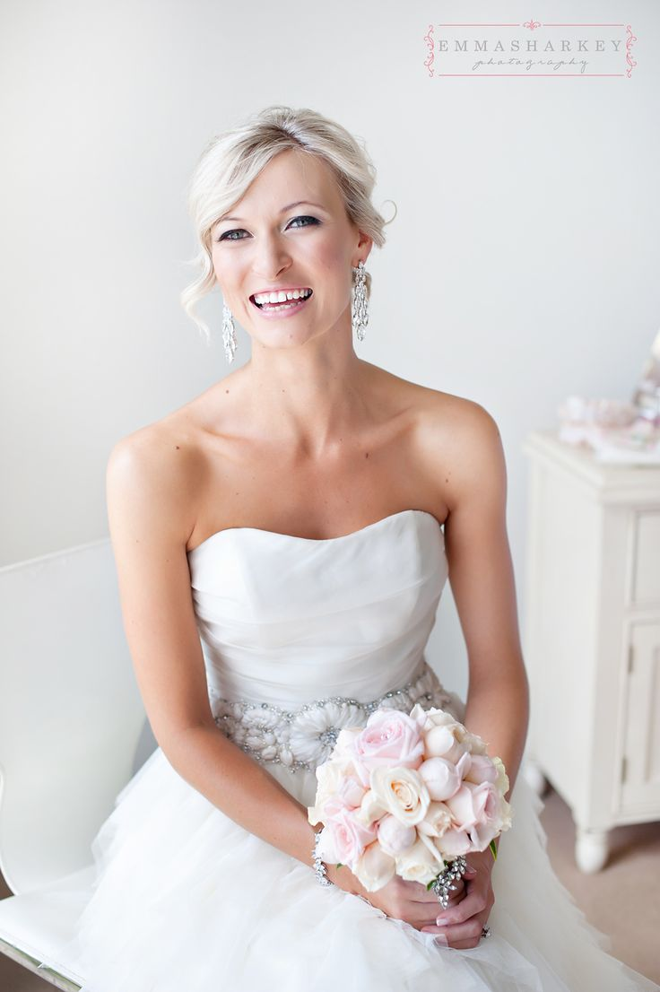 Emma Sharkey Adelaide Wedding Photographer  Lovely soft and natural, dewy makeup created by Sarah from Tempest Hair at Prospect in SA.  Carly is just glowing and looks so beautiful.