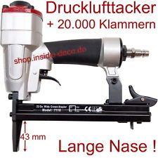1 Drucklufttacker incl. 20.000 Klammern Luftdrucktacker Druckluft Tacker 22GA