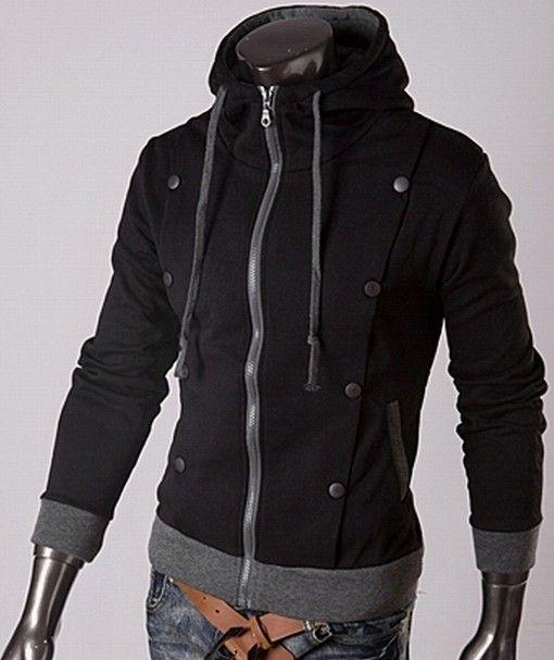 €24,95 Leuke zwarte grijze vest voor mannen met een opstaande kraag. Trendy voor de herfst/winter. http://trendy.mix4you.nl