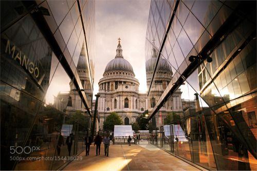Вид на собор святого Павла в Лондоне. by cont77  cont77