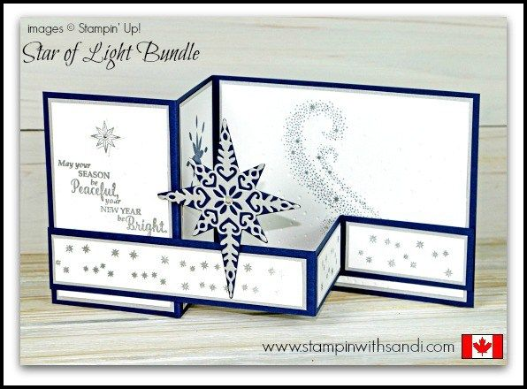 Stampin Up Video Star of Light Double Z Card                                                                                                                                                                                 More